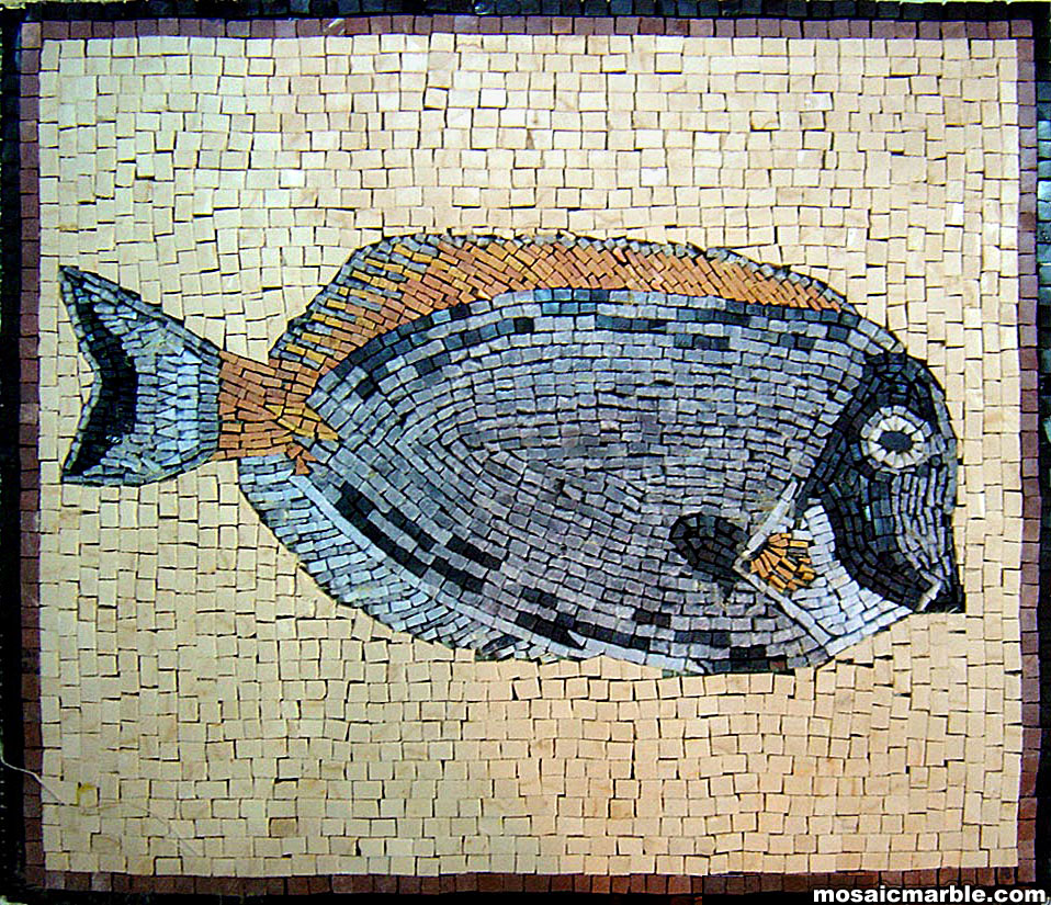 Handmade Animal Themed Marble Mosaic Tile Venice Mosaic Art