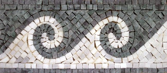 Custom Designed Marble Mosaic Border Tiles - Venice Mosaic Art Factory