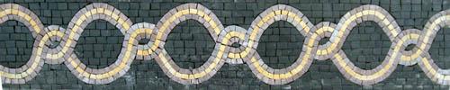 Hand cut Stone Mosaic Border VMBD2-G