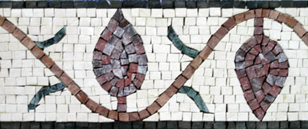 Hand crafted Stone Mosaic Border VMBD3-G