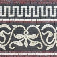 Hand cut Marble Mosaic Border VMBD361-G