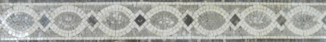 Hand cut Marble Mosaic Border VMBD364-G