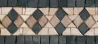Hand cut Marble Mosaic Border VMBD365-G