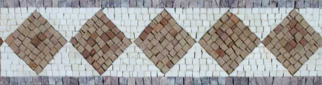Hand cut Marble Mosaic Border VMBD366-G