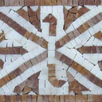 Hand cut Marble Mosaic Border VMBD367-G