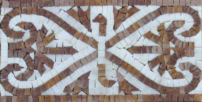 Custom Designed Marble Mosaic Border Tiles - Venice Mosaic Art Factory