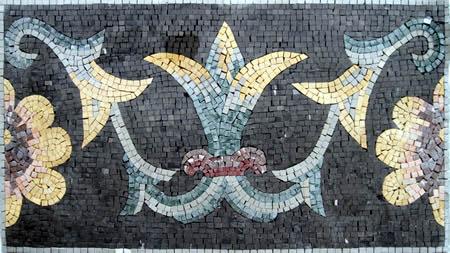 Hand cut Natural Stone Mosaic Border VMBD5-G