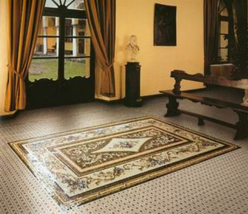Custom Designed Handcrafted Marble Mosaic Flooring