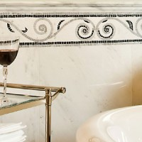 Marble Mosaic Bathroom Border Tiles
