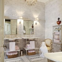 Marble Mosaic French Bathroom