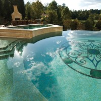 Marble Mosaic Pool Surrounding