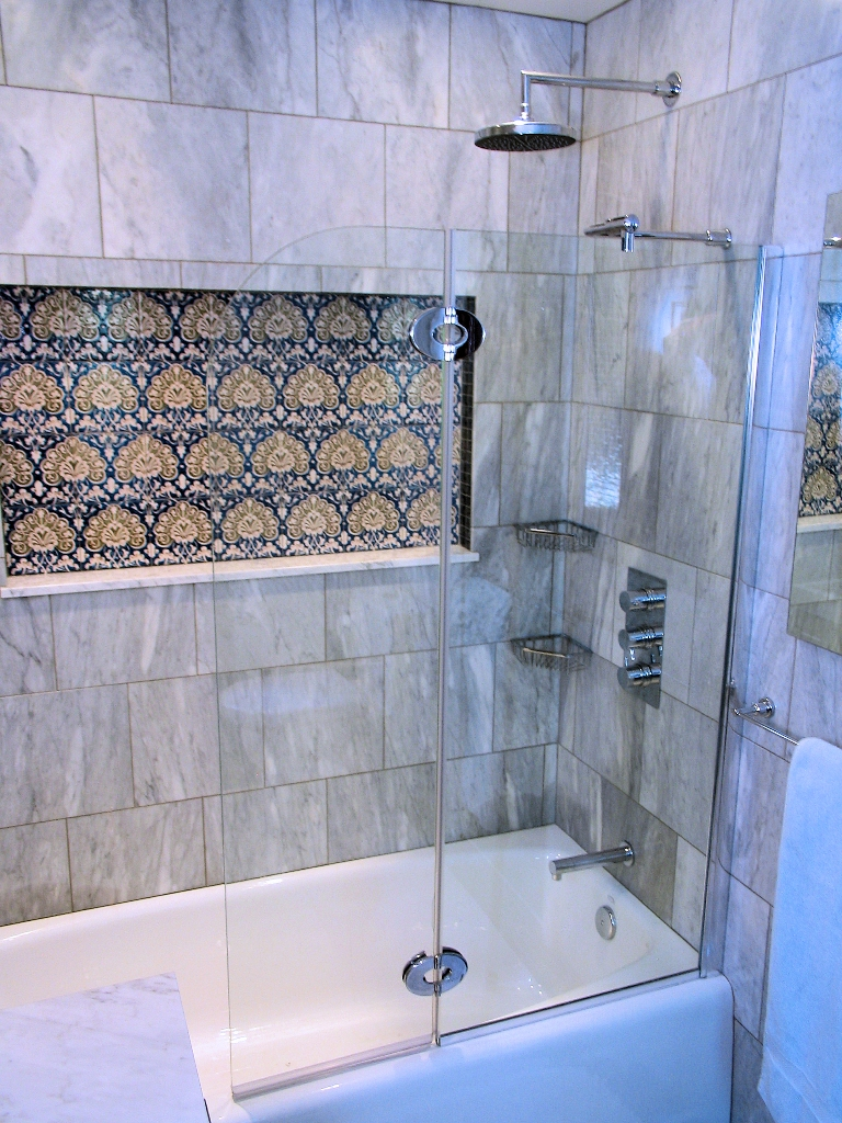 Marble Mosaic Shower Wall Tile