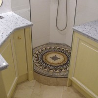 Roman Mosaic Bathroom Medallion