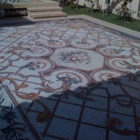 Stone Mosaic Outside Flooring