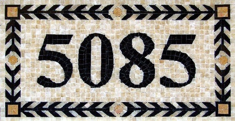 Marble Mosaic House Number