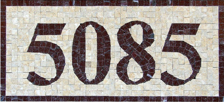 Mosaic Marble House Number