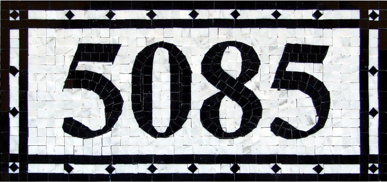 Natural Stone Mosaic House Number