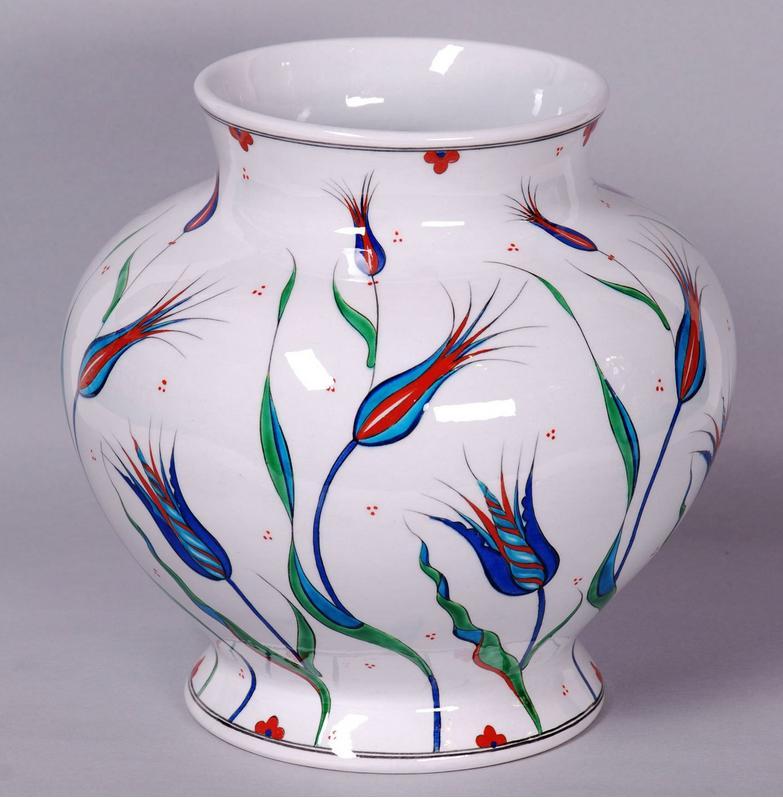 Handmade Iznik Vase Venice Mosaic Art