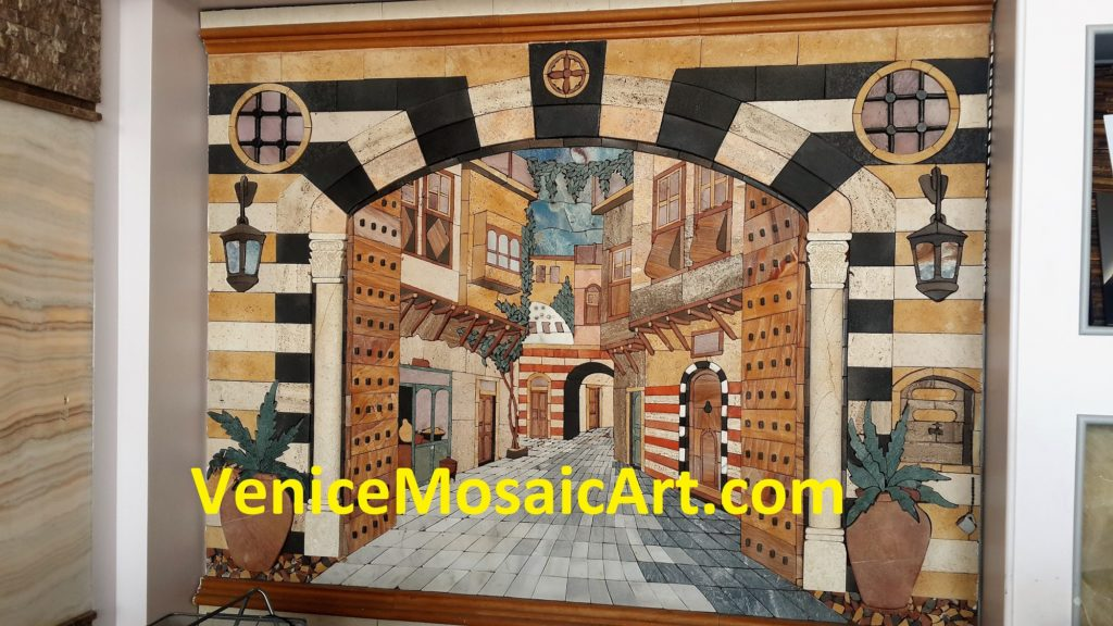 Marble Mosaic Art Work Wall Hanging