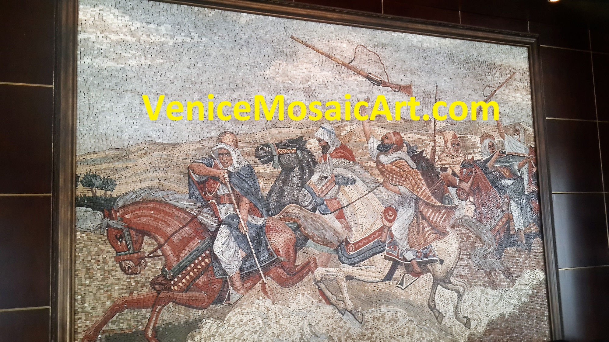 Marble Mosaic Wall Art Arab Warriors