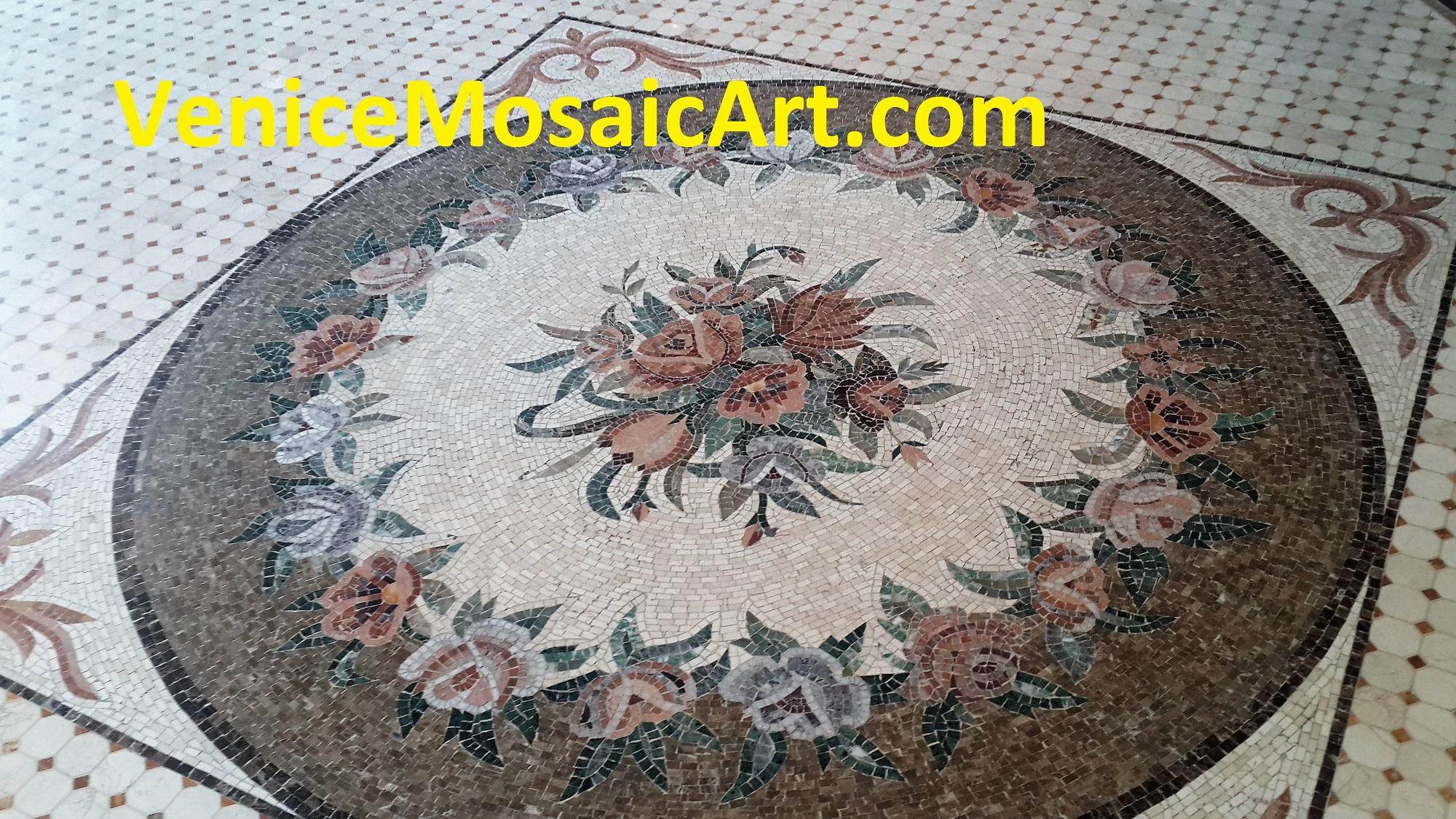 Mosaic Marble Medallion Tile