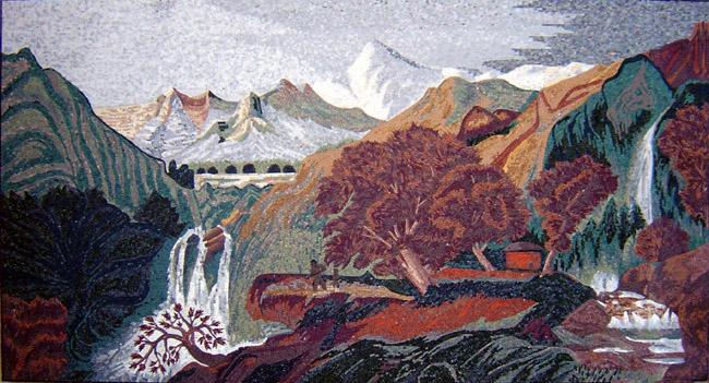 Landscape Marble Mosaics Landscape Themed Mosaic Tile
