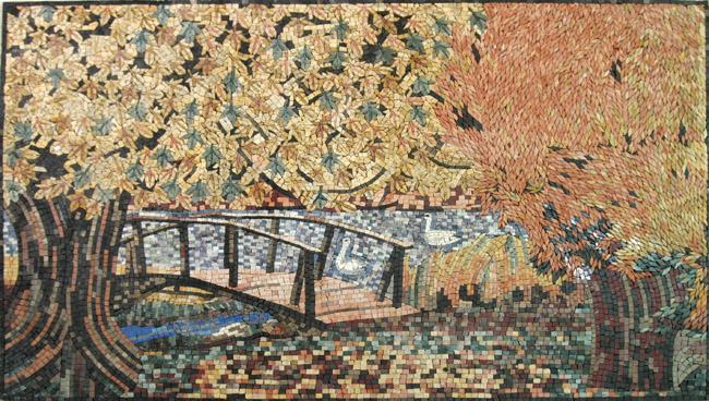 Landscape Theme Mosaic Tiles Order Now Venicemosaicart Com