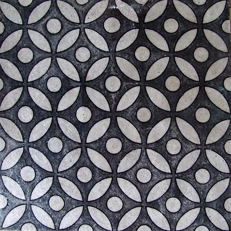Custom Designed Marble Mosaic Field Tile Venice Mosaic